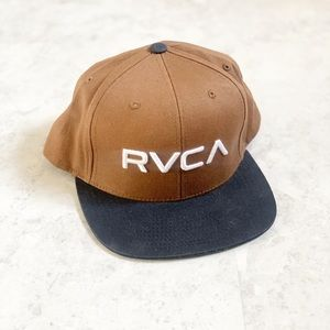 RVCA Twill SnapBack Hat Brown One Size Mens